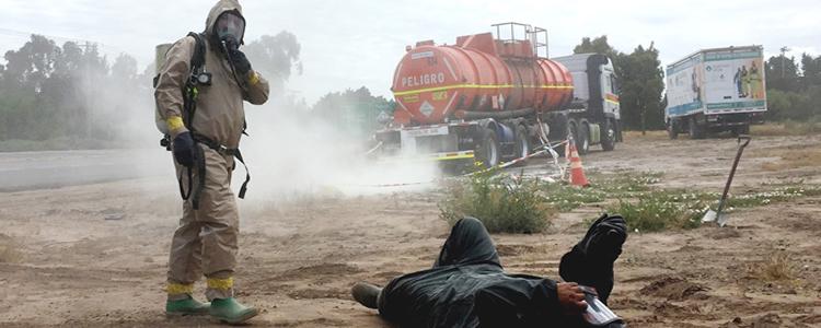 Codelco Ventanas realizó simulacro de derrame químico