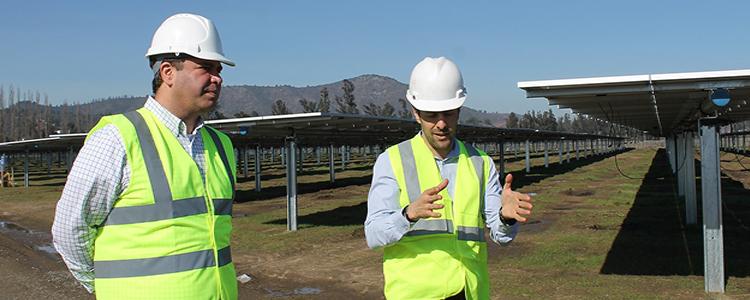 Avanzan obras de parque fotovoltaico en Valparaíso que acogerá cultivo agrícola