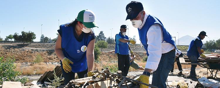 Proyecto Mapocho Limpio: recogen dos toneladas de basura en sector Petersen