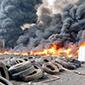 Los compuestos tóxicos liberados por el incendio de neumáticos en Maipú