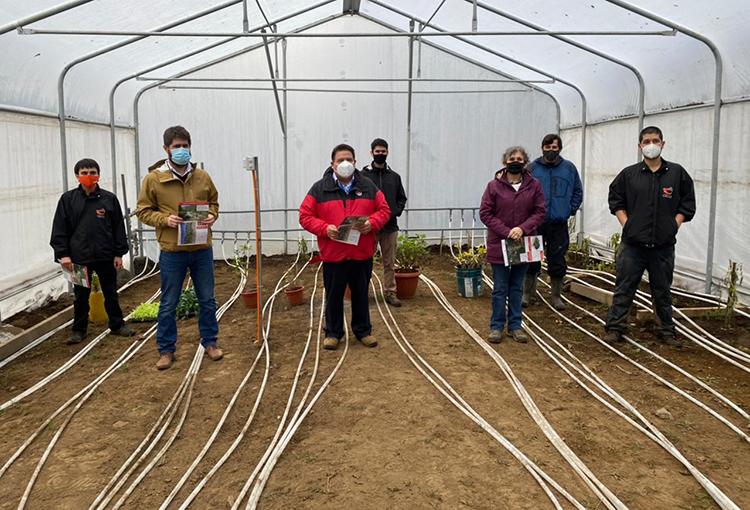 Implementan primer invernadero en Chile calefaccionado con agua termal