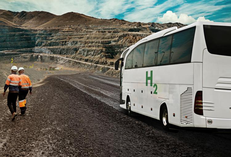 Estudian operación de buses con celdas de combustible a hidrógeno en la minería