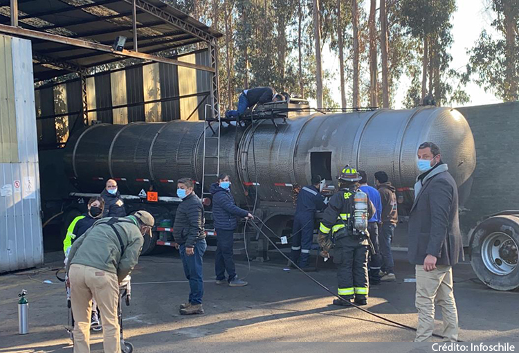 Tres personas mueren en accidente laboral con residuos químicos en Concón
